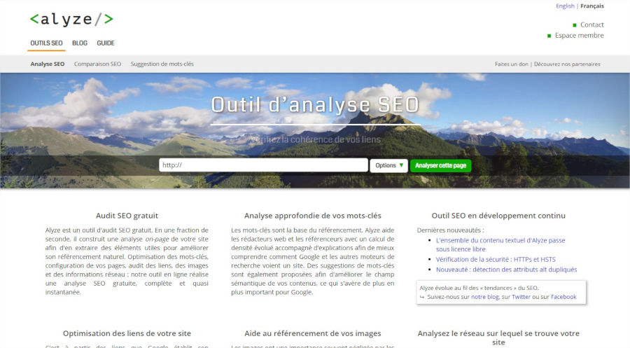 Analyse SEO d'un site Web